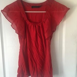 Red sheer T-Shirt. Size small.